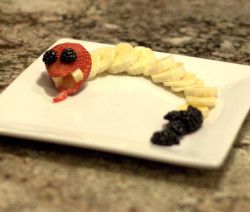 Food art rattlesnake
