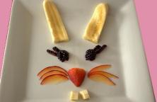 Bunny rabbit fruit face