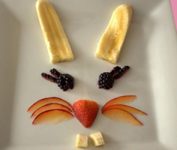 Bunny rabbit fruit face