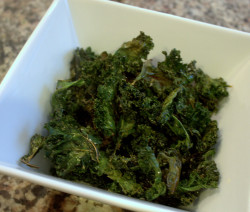 Easy and healthy kale chips.