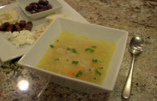 Greek chicken soup with kritharaki (orzo)