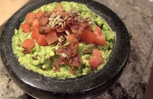 Guacamole recipe with bacon