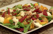 Mixed green beet salad.