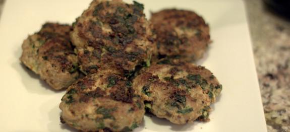 Turkey spinach patties